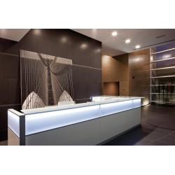 Banque d'accueil LED réception