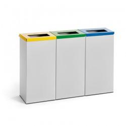 Corbeille de recyclage 76 l