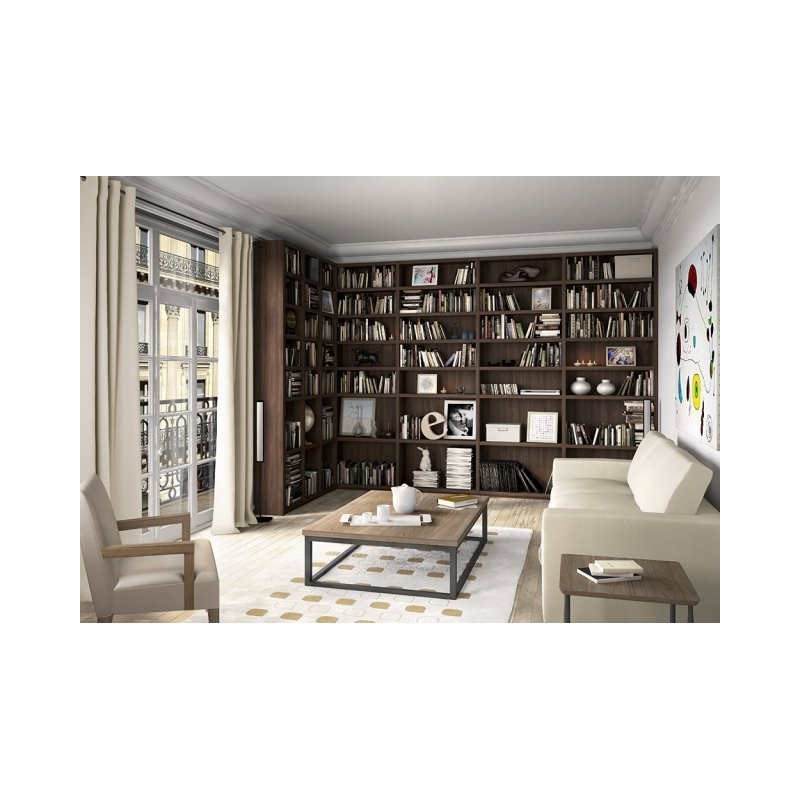 biblioth que toute hauteur sur mesure gamme cr ative. Black Bedroom Furniture Sets. Home Design Ideas