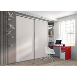 Espace bureau rangements et bibliothèque sur mesure - Gamme Créative