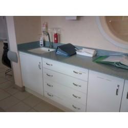 Plan vasque intégrée en HI MACS